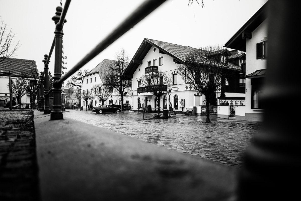 Der Kirchplatz in Oberhaching