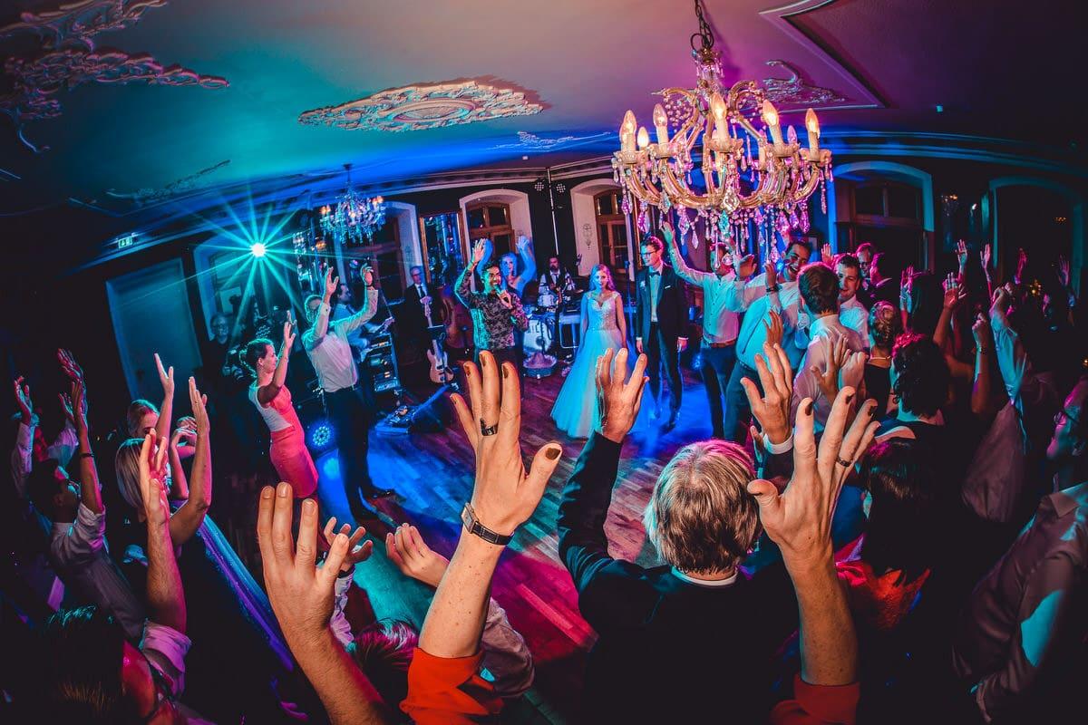 Partyfoto mit Blendensternen