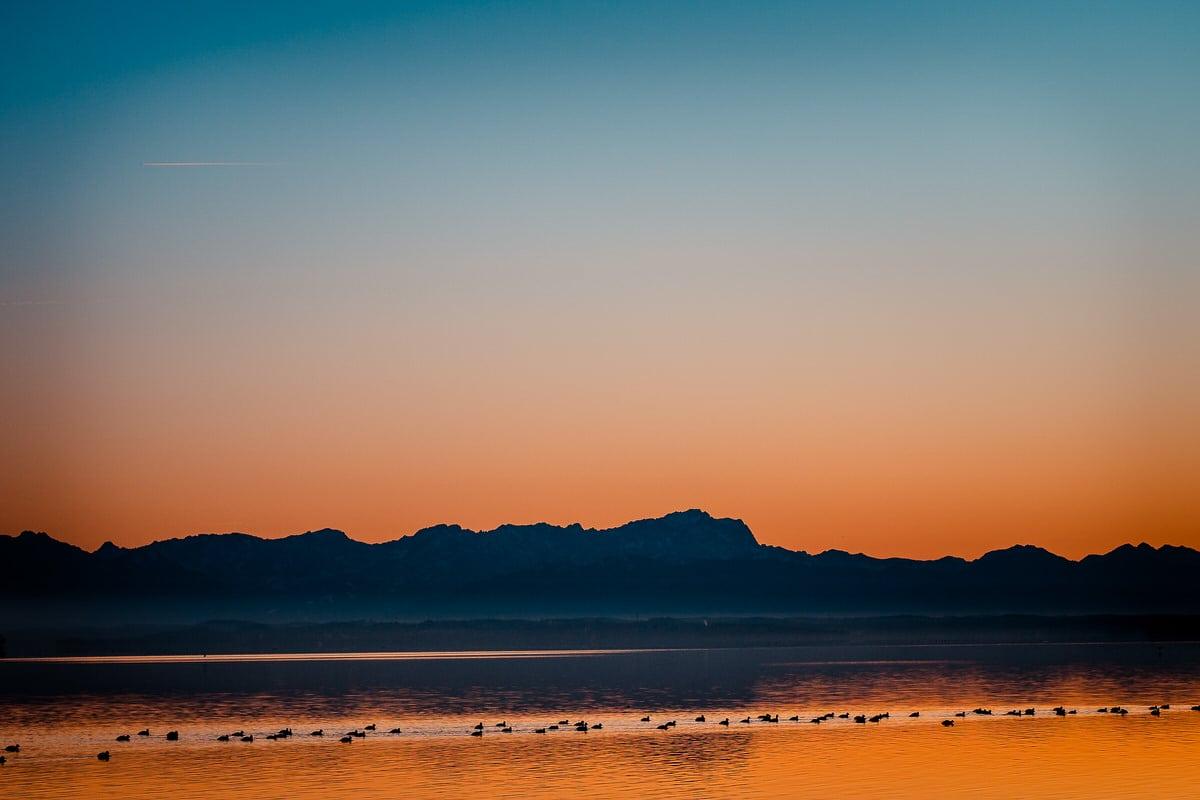 Der Starnberger See - Sonnenuntergang