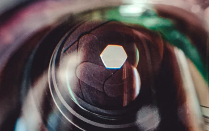 Blendenlamellen Objektiv